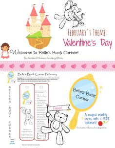 Belle's Book Corner for February 2014 {FREE printable Valentine's Day themed bookmark} - Enchanted Homeschooling Mom