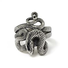 The Great Frog 'Coiled Snake' Ring. Handmade in London from hallmarked .925 British sterling silver.