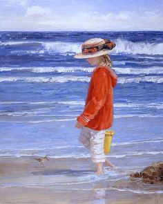 Going Coastal - Child at the Beach by Sally Swatland