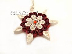 Quilling Snowflake // Christmas Ornament // by QuillingWonderland