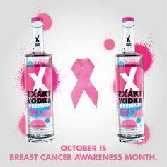 breast cancer awareness!  #EXAKT #VODKA #EXAKTVODKA #PARTY Mixed Drinks, Breast Cancer Awareness, Vodka, Perfume Bottles, Gallery, Party, Gifts, Roof Rack, Perfume Bottle