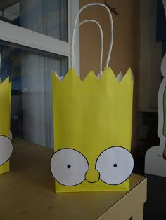 Simpsons themed party favor bag