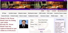 """Best Lawyers in West Delhi..  Thanks To Mr. Param Hansh Yadav for Joining Apni Adalat.  Recently Mr. Param Hansh Yadav has registered himself on Apni Adalat as a Civil Lawyer.  Free Registration is Open for Lawyers on Apni Adalat. Register yourself to get more cases and clients. Visit for free registration to """"apniadalat.com"""" Good Lawyers, States Of India, Child Custody, Divorce Lawyers, Family Matters, Delhi Ncr, Civilization, Finance, Lord"""
