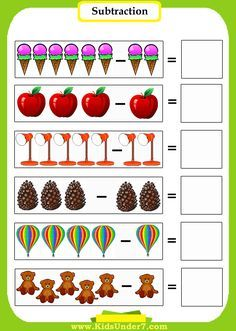 Additions: Additionksheets For Kindergarten With Pictures And Subtraction Math Addition Worksheets Number Line Preschool Pdf Easy Pictures HD ~ Auscblacks Math Subtraction Worksheets, Kindergarten Addition Worksheets, Kindergarten Math Activities, Kindergarten Math Worksheets, Preschool Math, Worksheets For Kids, Montessori Art, Montessori Elementary, Math For Kids