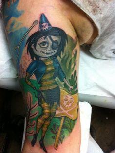 Hannah Aitchison zombie pirate pinup tat