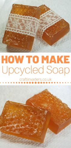 Upcycled soap is a great way to try out soap making at home without having to buy lots of supplies - follow our easy instructions using store bought soap.