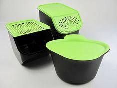 Tupperware Biomüll tupperware küchenhelfer alles in einem 3 5 l schwarz grün biomüll