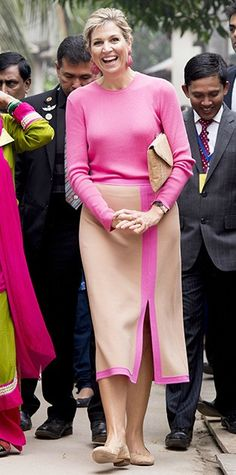 Queen Maxima during a three day visit to Bangladesh. Máxima visits at the invitation of Bangladesh and as a special advocate of the Secretary-General of the United Nations for inclusive finance for development. 17 November 2015
