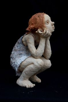 Jurga Sculpteur - To go to school or no to go? Terra cotta