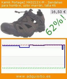 Kamik Portage2 HK0211X-M - Sandalias para hombre, color marrón, talla 46 (Ropa). Baja 62%! Precio actual 16,50 €, el precio anterior fue de 43,50 €. https://www.adquisitio.es/kamik/portage2-hk0211x-m-6