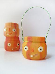 Pumpkin Luminaries for Halloween – Polymer Clay