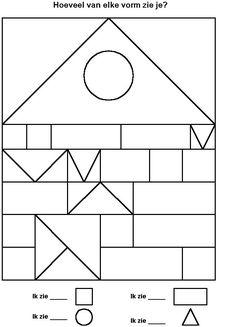 Werkblad; tel de vormen ook te gebruiken tijdens thema wonen