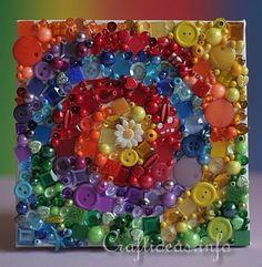 Rainbow Button Spiral