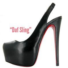 $174  Christian Louboutin Daf Sling platform pumps