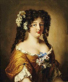 Hortense Mancini by Pierre Mignard (location unknown to gogm) From the lost gallery's photostream on flickr cropped