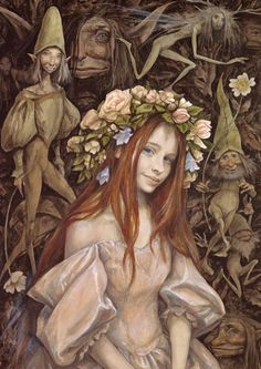 ≍ Nature's Fairy Nymphs ≍ magical elves, sprites, pixies and winged woodland faeries - Brian Froud