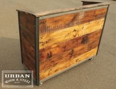 THE 48 ...Industrial Hostess Stand...Server by urbanwoodandsteel
