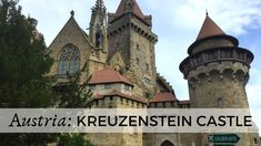 Just a few steps from Vienna, Kreuzenstein castle is hidden from the view of major tourist crowds. Take a day trip to admire its amazing architecture. Disneyland Castle, Minecraft Castle, Front Gates, Fairytale Castle, Medieval Castle, Central Europe, Bratislava, Vienna