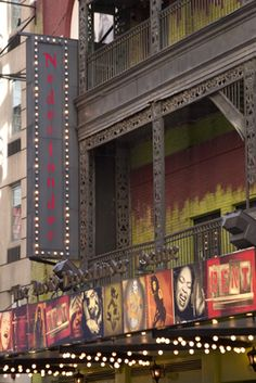 The Nederlander Theatre is located on the south side of 41st Street, between Seventh and Eighth Avenue. The Nederlander Theatre was ideal for Rent, the bohemian musical that was its tenant from 1995 to 2008.