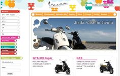 Online shop of known brand of Italian scooter and motorcycle