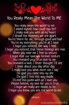 you mean so much to me poems