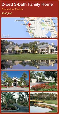 2-bed 3-bath Family Home in Bradenton, Florida ►$380,990 #PropertyForSaleFlorida http://florida-magic.com/properties/50770-family-home-for-sale-in-bradenton-florida-with-2-bedroom-3-bathroom