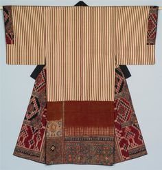 Under Robe with Kasuri Checks and Sarasa.  17th to 18th century , cloth from India created into robe in Japan.   Miho Museum,  Japan