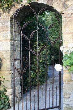 Elegant Wrought Iron Arch Gate