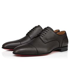 S Signature, Red Sole, Derby Shoes, Small Backpack, Formal Shoes, Classic Leather, Calves, Men's Shoes, Christian Louboutin