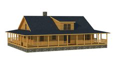 Abbeville Rear Elevation - Southland Log Homes