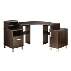 South Shore Furniture U at Work Chocolate Corner Desk-7219780 at The Home Depot