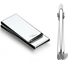 THREESOME Money Clip by Philippi. Offering three compartments to separate banknotes, bills and cards. Money Clip, Name Cards, Memorable Gifts, Polished Nickel, Cool Designs, How To Memorize Things, Card Holder, Separate, Wallets