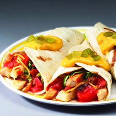 Sweet and Spicy Fajitas Mexican Dishes, Mexican Food Recipes, Ethnic Recipes, Mouth Watering Food, Sweet And Spicy, Tex Mex, Fajitas, Pinwheels, Lunch Recipes