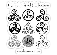 Triskel Collection Light design in darkgrey tone just arrived from the Irish and Scottish Celtic traditions • Also buy this artwork on stickers, apparel y phone cases.