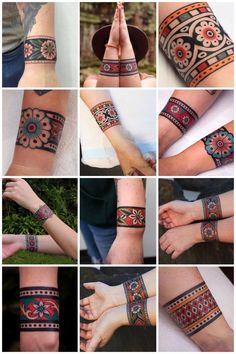 A cuff tattoo, is that something new? I can hear you thinking, but a cuff tattoo actually means no more than a sleeve tattoo. Armband Tattoo, Wrist Band Tattoo, Wrist Tattoos, Finger Tattoos, Body Art Tattoos, Arm Cuff Tattoo, Tatoos, Black Band Tattoo, Elbow Tattoos