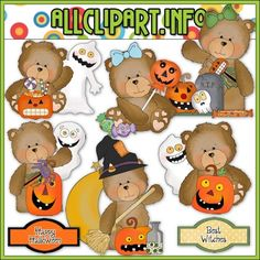 Happy Halloween Bears Clip Art $1.00 : We offer High Quality COMMERCIAL USE Graphics for Teachers, Crafters & Scrapbookers. Clip Art Graphics, Printable Paper Crafts, CU/PU Kits, Digital Stamps, Digital Papers & Free Downloads! Available in downloadable jpg & png formats.