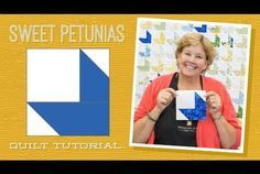 Make a Sweet Petunias Quilt with Jenny!
