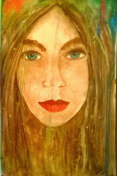 Aquarel geschilderd in mixed media boekje met filter over de foto heen