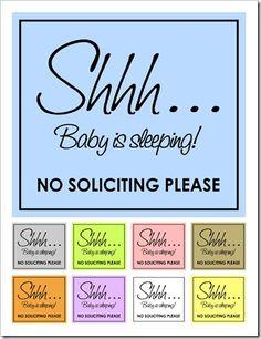 Genius image inside printable baby sleeping sign front door