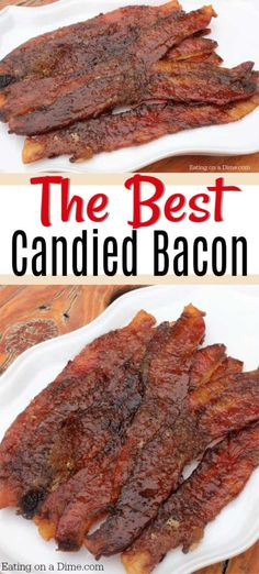 You will love this candied bacon recipe. Easy caramelized bacon recipe is a crowd pleaser. Candy bacon is the best recipe. Learn how to make candied bacon. You need this candied bacon recipe for breakfast or brunch! Easy Bacon Recipes, Pork Recipes, Brunch Recipes, Cooking Recipes, Recipies, Dinner Recipes, Breakfast Dishes, Breakfast Recipes, Sweets