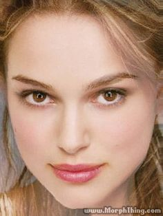 Top Rated Celebrity Morphs    Natalie Portman and Keira Knightley  It's official: Natalie Portman and Keira Knightley are the SAME PERSON. Maybe that's why Keira played Natalie's double in The Phantom Menance. But if you look carefuly, you can still make out different features of Natalie and Keira.