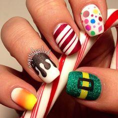 Pink galaxy nails with tutorial httplucysstash201403pink christmas by capitalpolish nail nails nailart prinsesfo Image collections