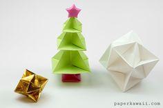 Origami Christmas Tree Tutorial!  #origami #christmas #tree #star #diy