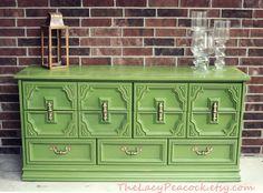 Custom Order for Kelly Retro Green Dresser/ by TheLacyPeacock, $425.00