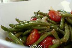 שעועית ירוקה מוקפצת עם עגבניות שרי / צילום : ניקי ב