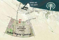 Dubai world central al maktoum airport dubai pinterest site plan of the hq of the future ihc in dwc gumiabroncs Gallery