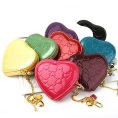 [바보사랑] 러블리 동전지갑! /지갑/동전지갑/애나멜/러블리/하트/가죽지갑/Wallet/Coin Purse/Aenamel/Lovely/Heart/Leather wallet