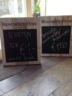 Steigerhouten reclameborden met schoolbordverf!!!