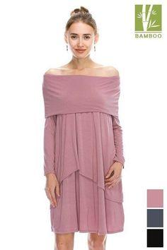 solid off shoulder front double layered long sleeve dress   Style #44055 $33 Shop Dress: http://ift.tt/2gXpGdE  --------------------------------------------------------------- #cocolove  #dresses #tanboocelBambooDress #casualdress #bamboo #womensdress #fallcloset #highfashion #stylist #styleish #fashion #fashionista #newstyle #newarrivals #fall2016 #BESTEVER #fallvibes #bestseller #boutique #liketolike #tbt #followme #cute #beautiful #love #ootd #picoftheday #like4like