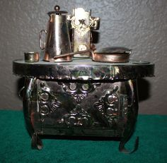 Vintage Brass Copper Cook Stove Sculpture Music Box Metal Art | eBay